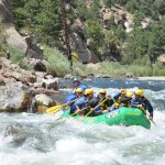 Our family traveling down the Arkansas river in Brown's Canyon with Mel....awesome time!