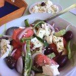 Greek Salad and Tzatziki