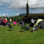 Our group getting settled in to the camp site.
