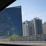 Pristine office buildings (e.g. Seiko) on the roadside to Narita Airport