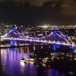 Story Bridge and Brisbane River from Apartment Balcony
