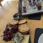 Cheeseboard and wine tasting kit