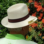 Notice the shadow on the left brim of the hat!