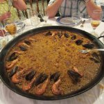 Seafood paella to share between 7