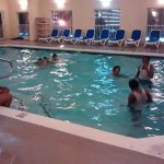 in door upper level heated pool. open until midnight!