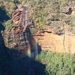 Wentworth Falls and Sunshine made a rainbow
