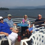 Celebrating my birthday on Lake McCall.