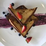 VEGAN FRENCH TOAST on Blueberry Compote