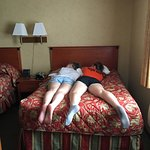The girls passed out after a fun afternoon at cedar point!