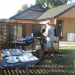 BBQ area - now with new decking!