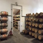 Barrels at one of the wineries
