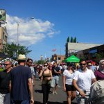 "Crowds on the street at ""Taste of the Danforth"""