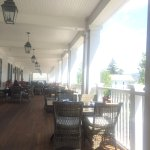 The outside patio/porch for lunch