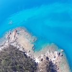 Helicopter flight to Whitehaven Beach