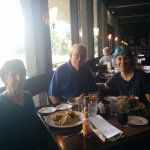 Lunch with husband Jim and daughter Cindy, from Brooklyn, NY