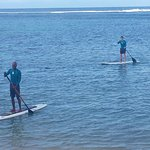 First SUP with Tru-Sup at Fiji Hideaway Resort.
