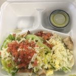 See if you can find the chicken in my jerk chicken salad!