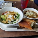 SW Chicken salad and French Onion soup
