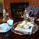 Devonshire Tea with raspbery & cream scones