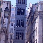 Santa Justa Lift in the center of Baixa