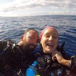 Happy divers