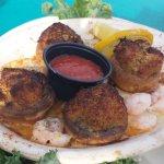 Crab stuffed mushrooms with shrimp