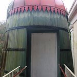 Water cistern repurposed as an elevator.