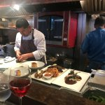 Chef Eduardo working his magic, presentation is everything at Coyote Cafe