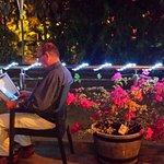Superb veranda table at Kelly's Bar & Grill