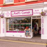 "Like the sign says, ""Poets Corner""."