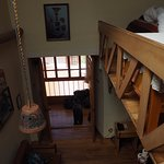 aerial view from stairs to loft