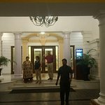 ROYAL ENTRANCE TO THE JEHAN NUMA PALACE HOTEL AT NIGHT