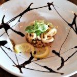 Calamari Salad w/ tomato-basil couscous.