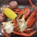 Snow crabs and a dozen fried crabs!