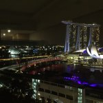 Marina Bay View from Room on 18th Floor