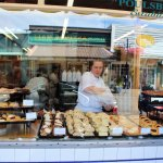 Street view of a delicious bakery