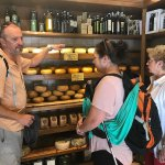 Gianni teaching us about the cheeses of the region