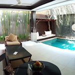 Private pool and lounge area of the villa