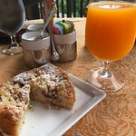Fresh coffeecake and OJ while waiting for breakfast to come
