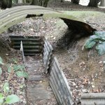 There are original WW1 trenches and a bunker etc. in the hotel grounds.