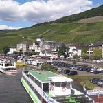 The Mosel at Bernkastel with the riverboats.
