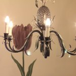 Staircase light and wall decor