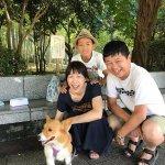 犬を連れて、関東から友人家族と交歓