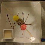 Postres deliciosos en el restaurante Japonés, el mejor.