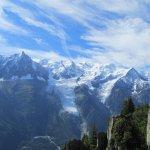 Vue panoramique sur le Mont Blanc en vol