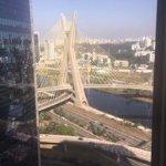 Outside city view with the Estaiada Bridge