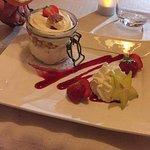 Tiramisu aux fraises et palet breton