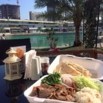 Chilled afternoon overlooking the Lagoon, enjoying my Doner plate