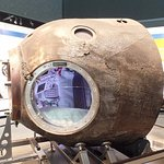 See things you never expect — like this crispy, cramped Soyuz return capsule.