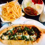 Spinach Pide, Mixed Mezze super fresh& home made